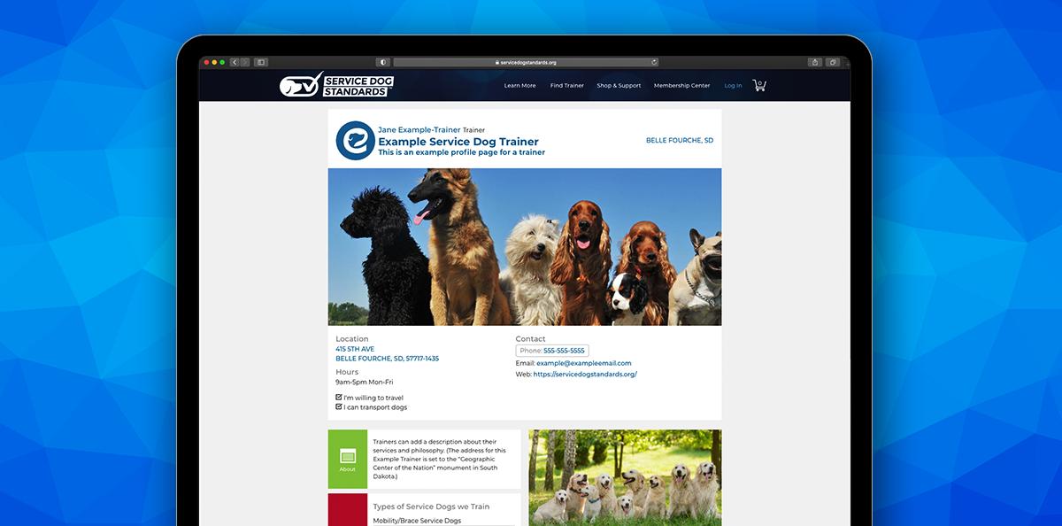 Service Dog Standards Free Trainer Profile