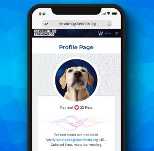 Service Dog Standards Profile Page