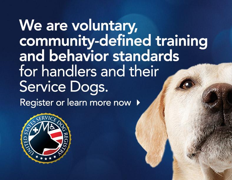 The United States Service Dog Registry Training and Behavior Standards